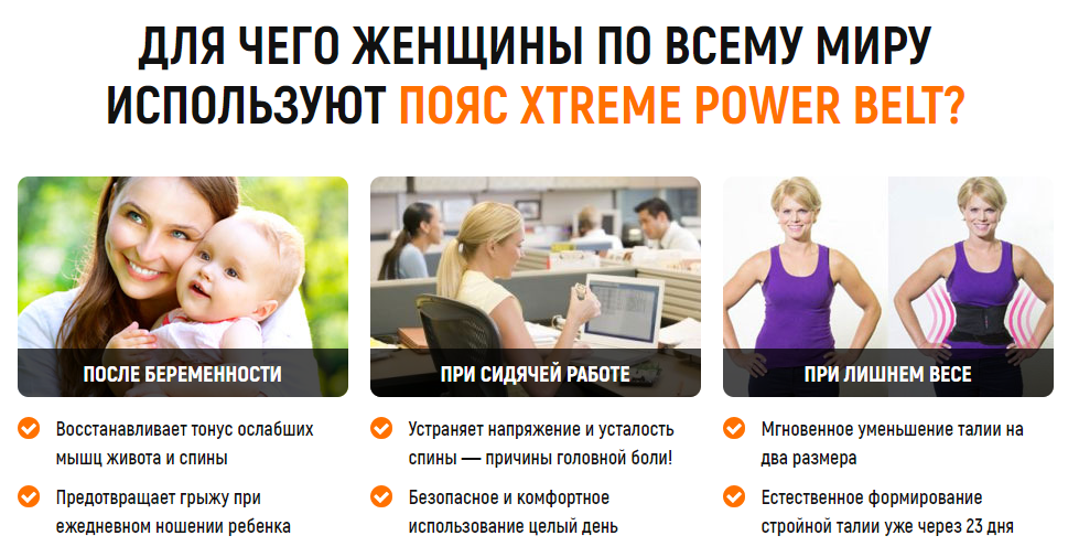 Xtreme Power Belt – применение